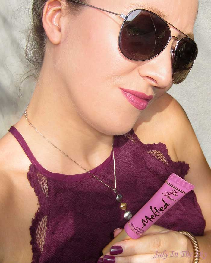 blog beauté too faced melted swatch fig avis test