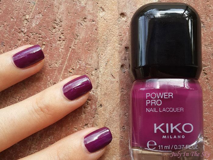blog beauté vernis kiko power pro nail lacquer cyclamen 20 swatch avis test