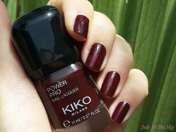blog beauté vernis kiko power pro nail lacquer 15 wine swatch avis test