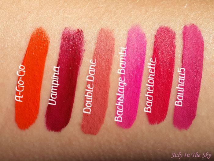 blog beauté kat von d everlasting liquid lipstick avis test swatch a-go-go vampira double sare backstage bambi bachelorette bauhau5