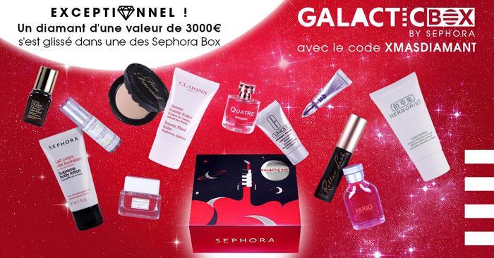 blog beauté sephora galactic box noel