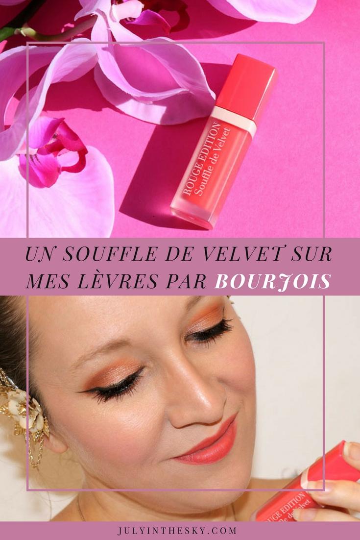 blog beauté souffle de velvet bourjois vipeach avis test swatch
