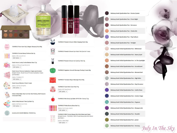 blog beauté wishlist aout avis test swatch cellu cup indemne cocoa blend zoeva soft matte nyx asiatique makeup geek