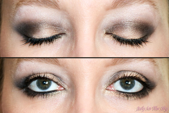 blog beauté make-up réveillon noel doré gold or make-up of the day