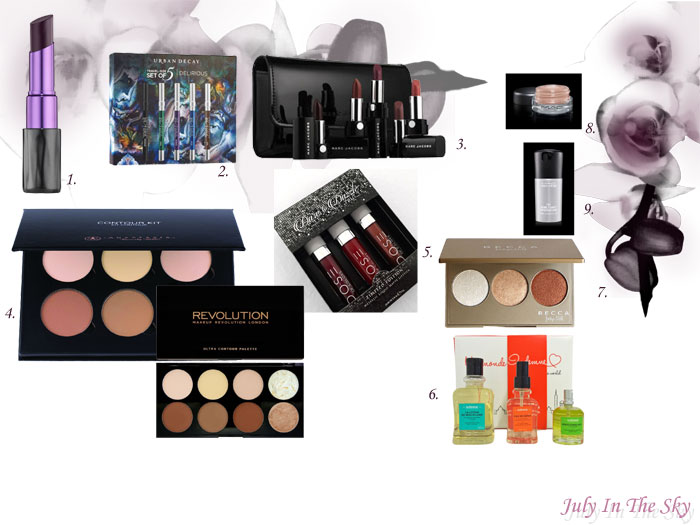 blog beauté wishlist décembre noel black friday urban decay marc jacobs mac anastasia beverly hills makeup revolution dose of colors becca indemne