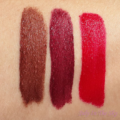 blog beauté trio dare to dazzle dose of colors teddy lace scarlet corset swatch
