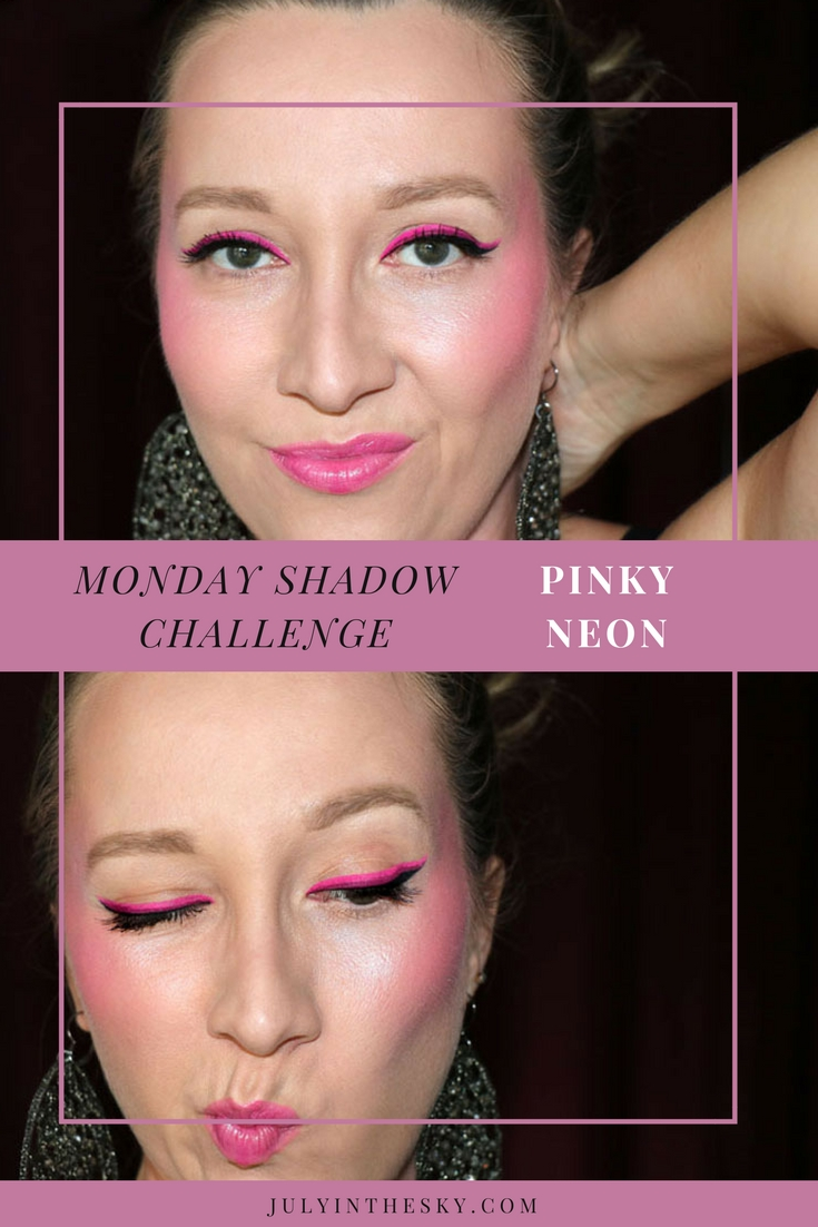 blog beauté maquillage monday shadow challenge pinky neon make-up artistique