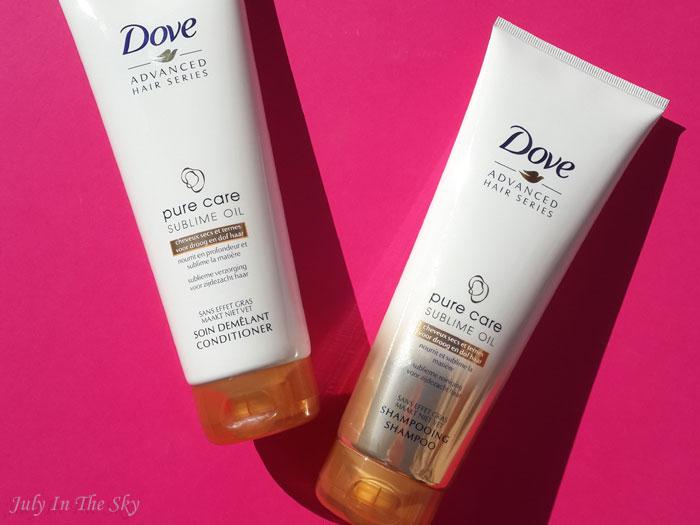 blog beauté dove pure care sublime oil shampooing soin démélant