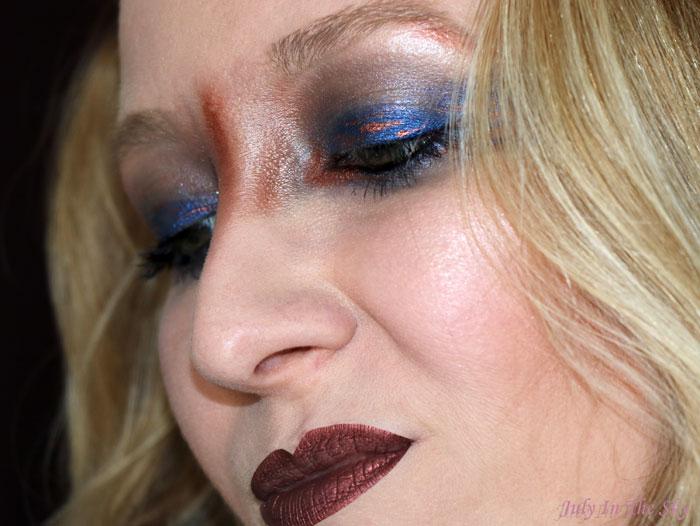 blog beauté monday shadow challenge copper meteorite cuivre make-up artistique
