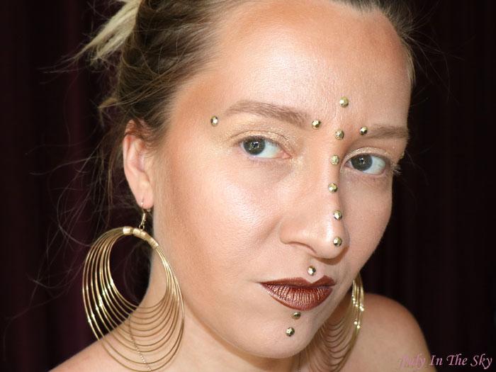 blog beauté monday shadow challenge golden amazon make-up artistique