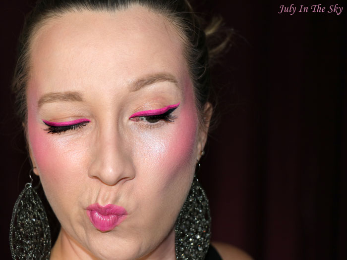 blog beauté monday shadow challenge pinky neon make-up artistique