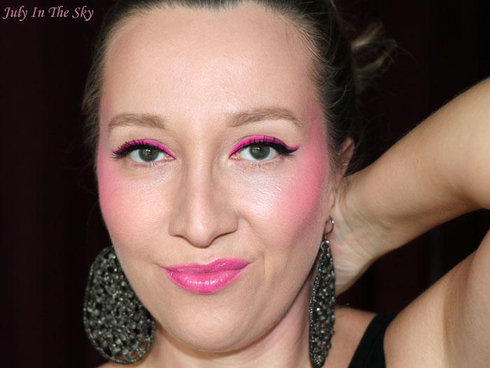 blog beauté monday shadow challenge pinky neon make-up artistique