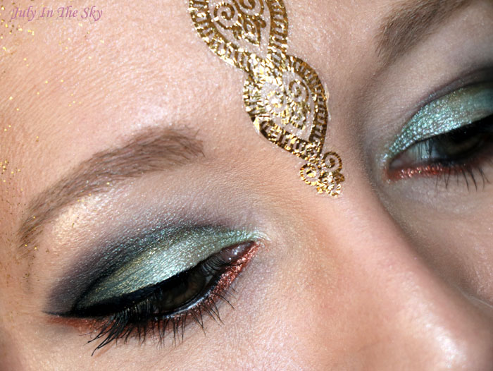 blog beauté monday shadow challenge arabian green