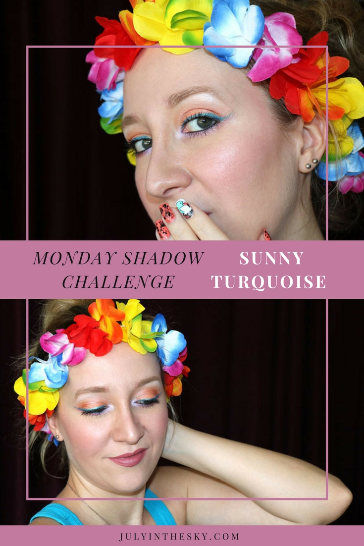 blog beauté maquillage monday shadow challenge dramatic sunny turquoise