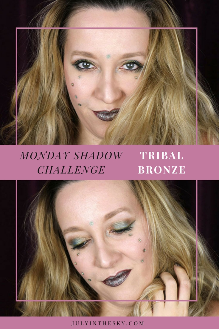 blog beauté maquillage monday shadow challenge tribal bronze