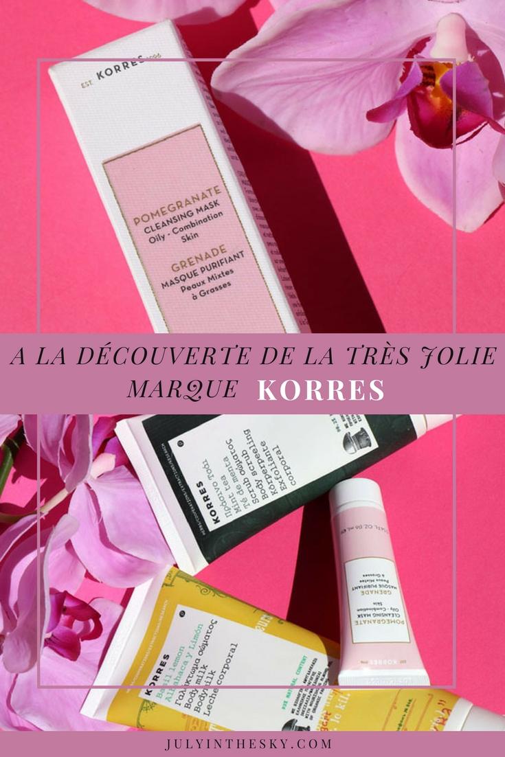 blog beauté korres avis masque purifiant grenade