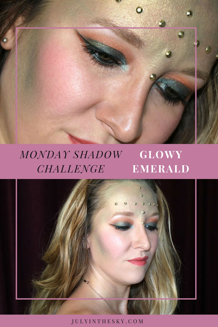 blog beauté maquillage monday shadow challenge glowy emerald