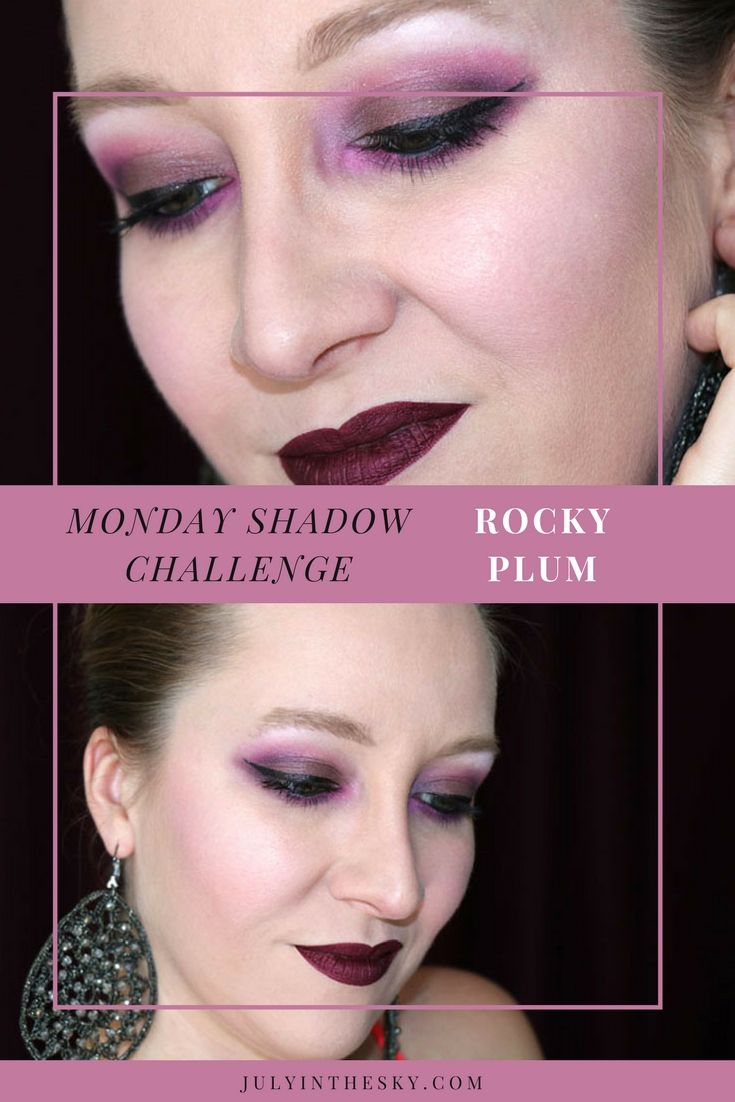 blog beauté maquillage monday shadow challenge rocky plum