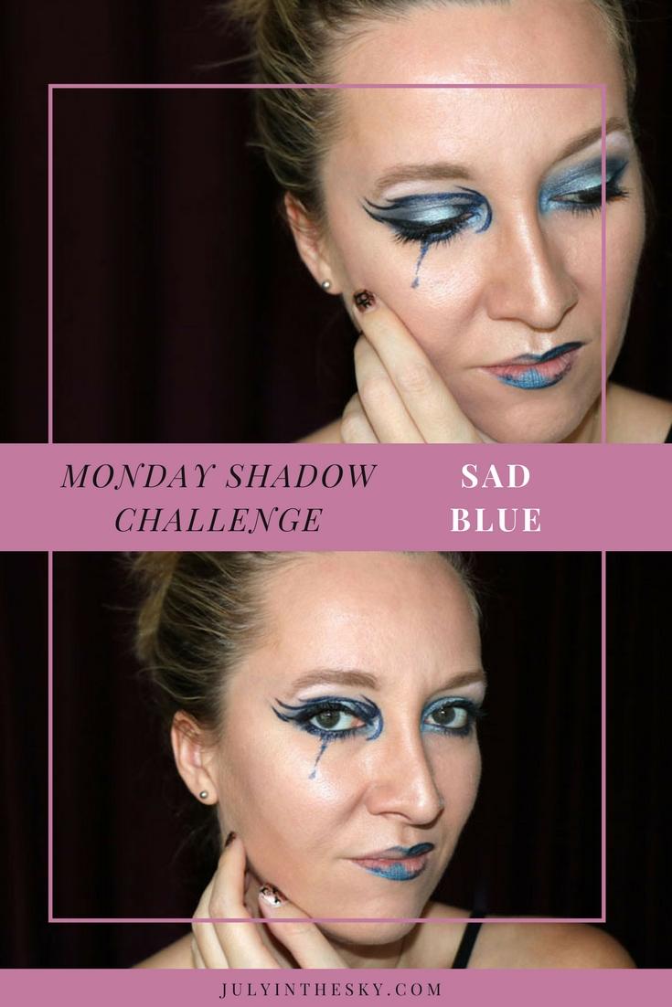 blog beauté maquillage monday shadow challenge sad blue