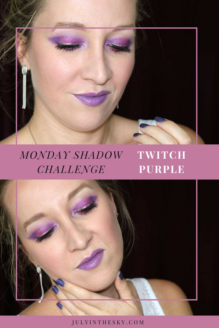 blog beauté maquillage monday shadow challenge twitch purple urban decay vice lipstick