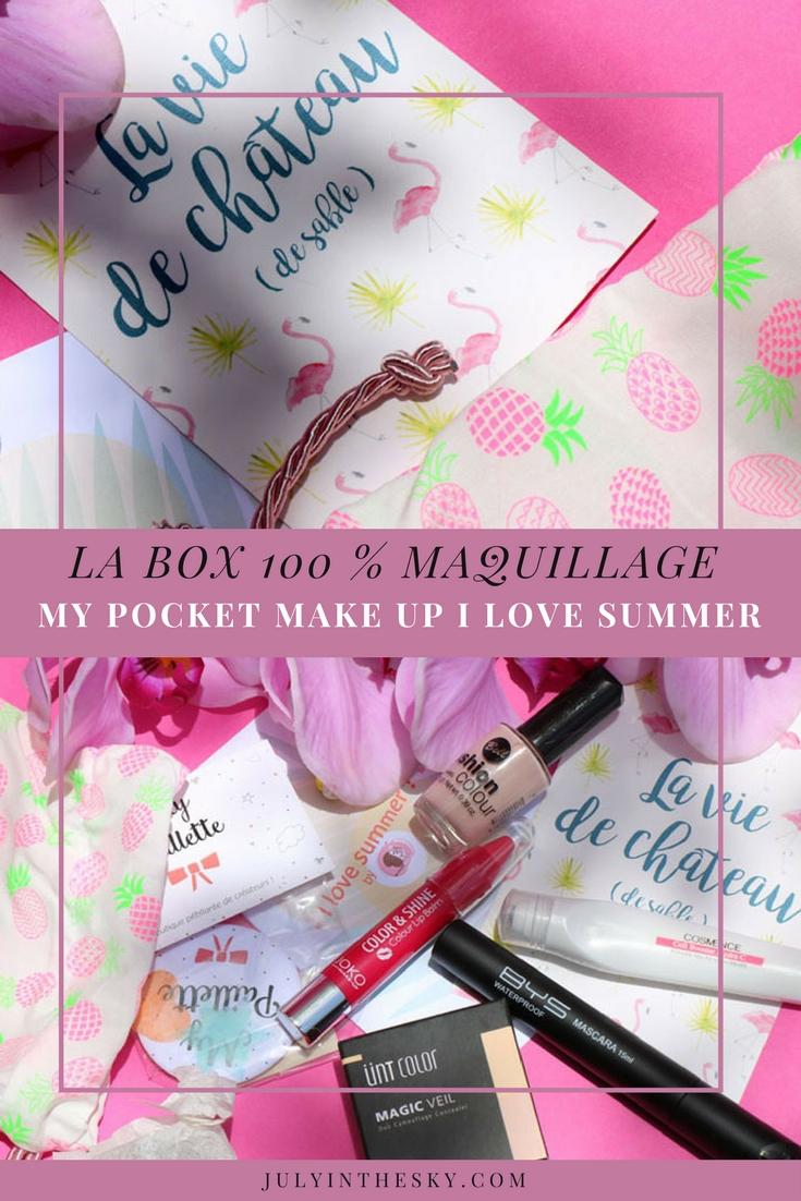 blog beauté box maquillage my pocket make up i love summer avis