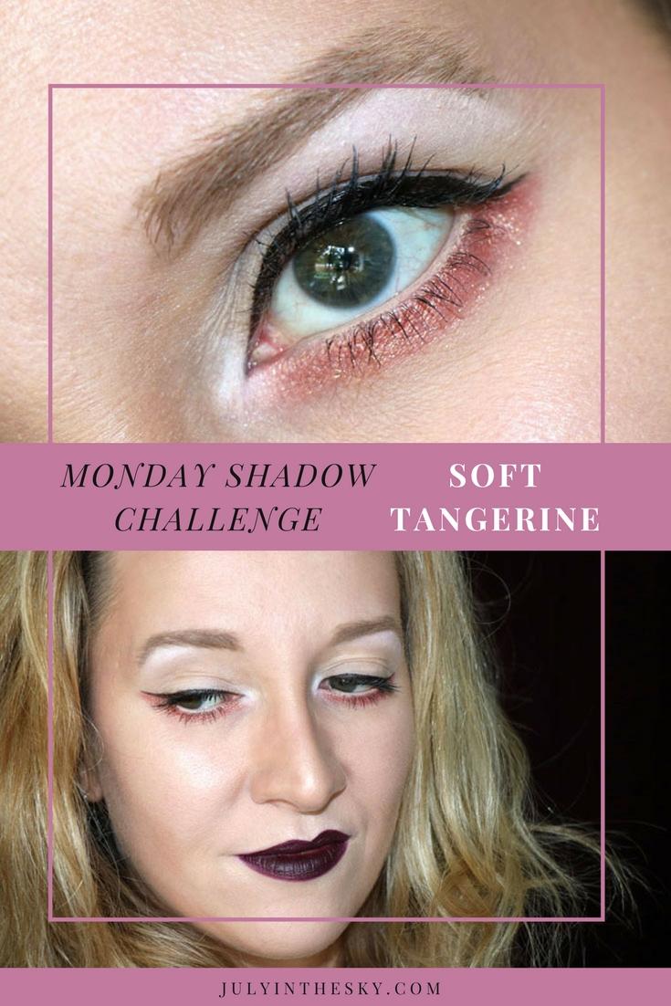 blog beauté maquillage monday shadow challenge soft tangerine
