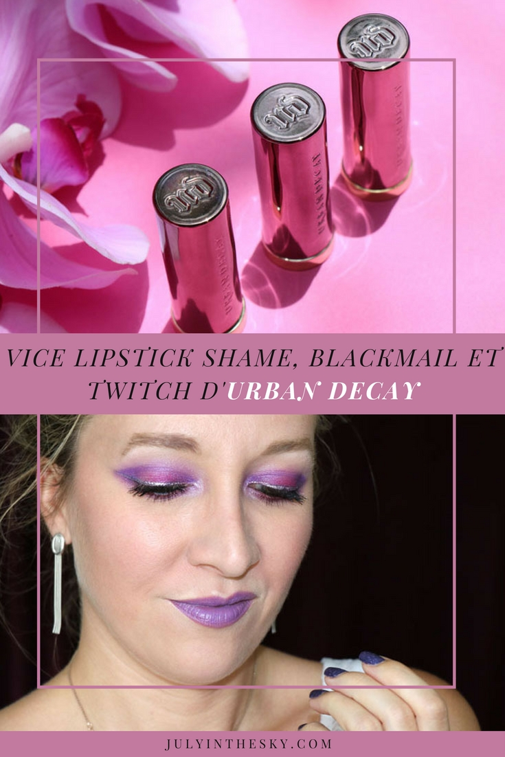 blog beauté vice lipstick urban decay twitch shame blackmail swatch avis