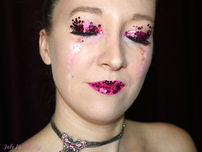 blog beauté happy new year make-up fêtes paillettes glitter