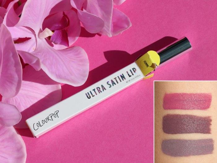 blog beauté colourpop ultra satin lip avis test swatch