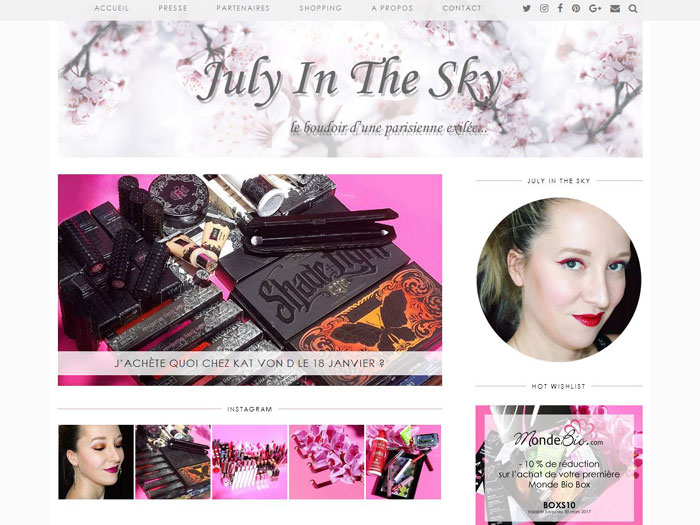 blog beauté interview july in the sky