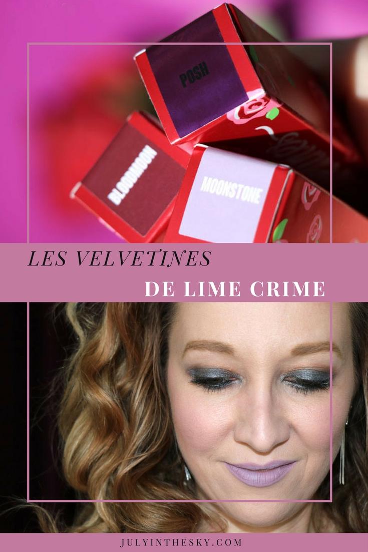 blog beauté lime crime velvetines posh moonstone bloodmoon swatch