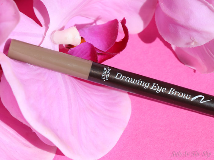 blog beauté drawing eye brow etude house light brown