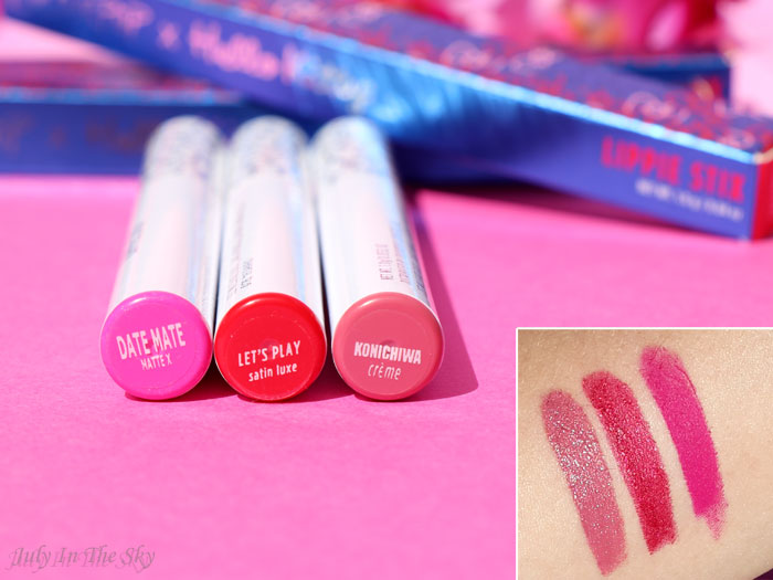 blog beauté Colourpop lippie stix hello kitty let's play date mate konichiwa