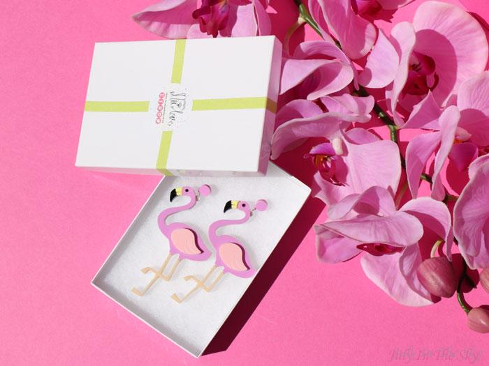 blog beauté FromNicLove flamant rose boucles oreilles