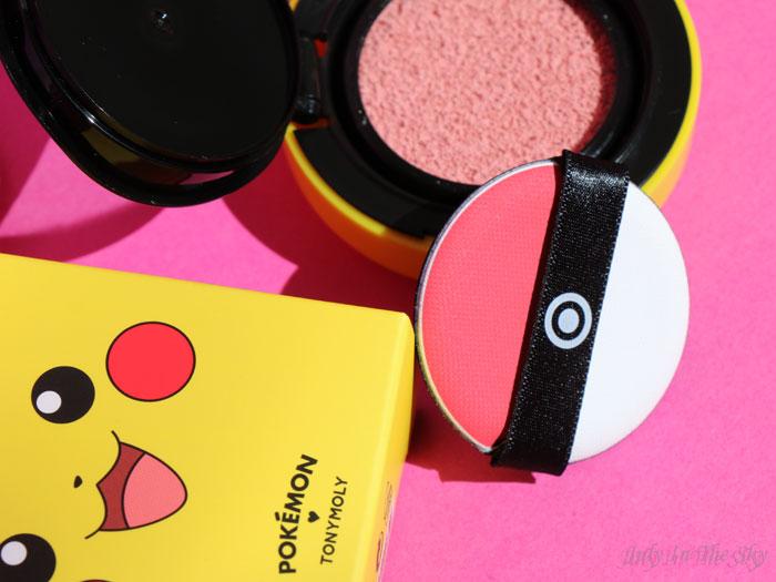 blog beauté tonymoly pokemon pikachu cushion blusher