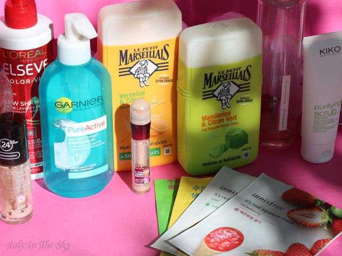 blog beauté produits terminés garnier l'oréal gemey le petit marseillais novaria