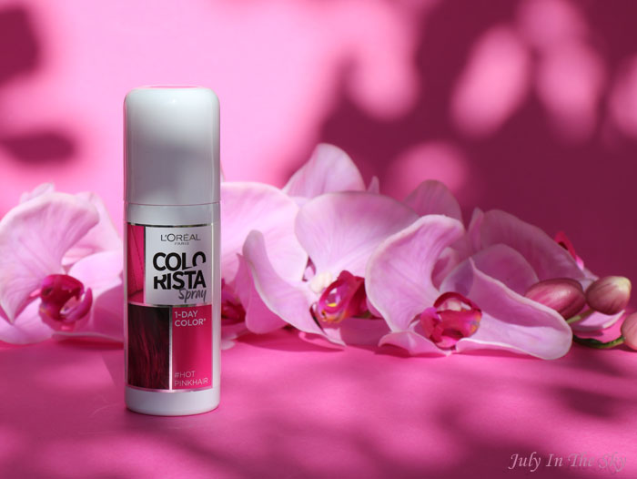 blog beauté colorista L'Oréal spray 1 day color pastel hotpinkhair