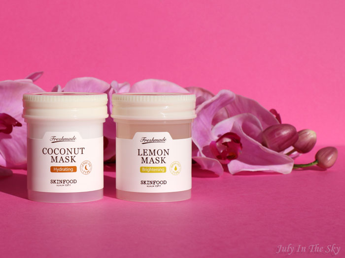 blog beauté skinfood freshmade lemon mask coconut mask