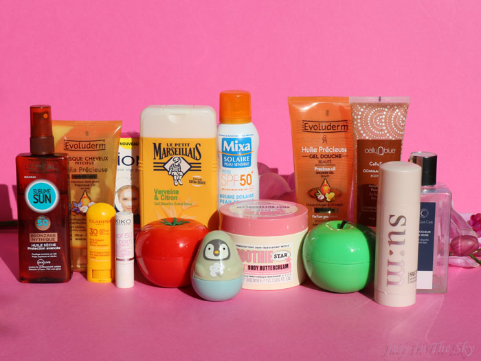 blog beauté produits termines evoluderm soap and glory clarins kiko l'oreal tonymoly etude house mixa les cents ciels cellublue