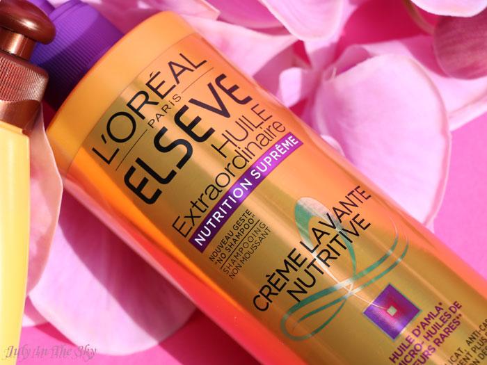 blog beauté low poo huile extraordinaire creme lavante nutritive l'oréal