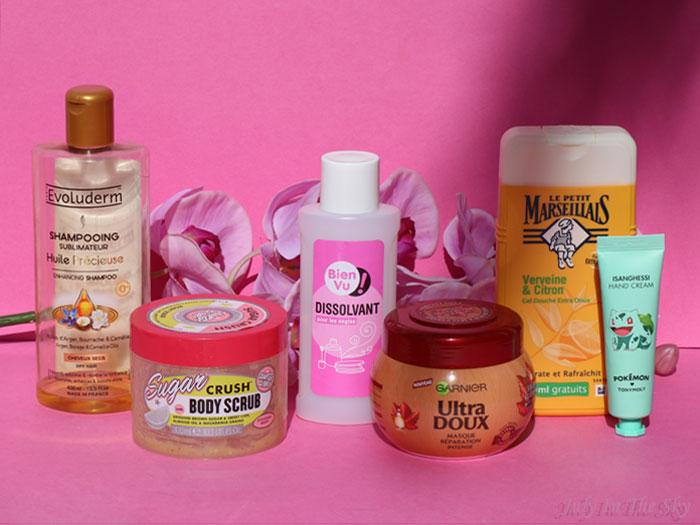 blog beauté produits termines evoluderm garnier soap-and glory le petit marseillais