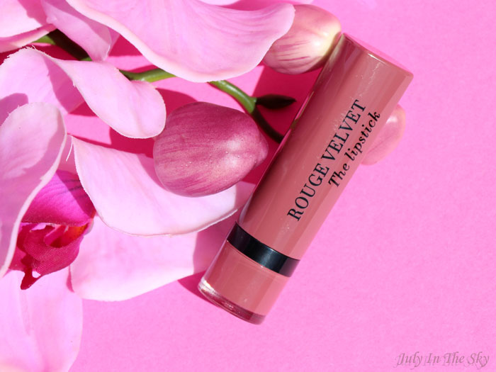 blog beauté Bourjois Rouge Velvet The Lipstick Nohalicious avis test swatch