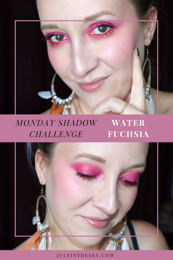 blog beauté Monday Shadow Challenge corail fuchsia tutoriel maquillage