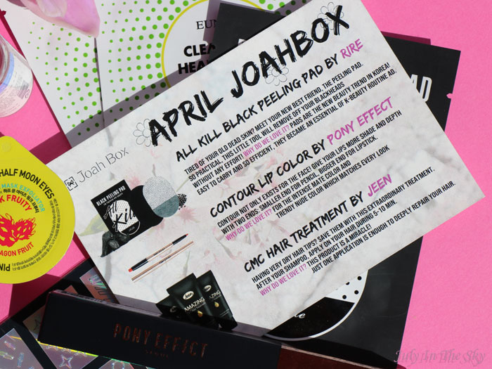blog beauté kbeauty Joah Box avril avis test