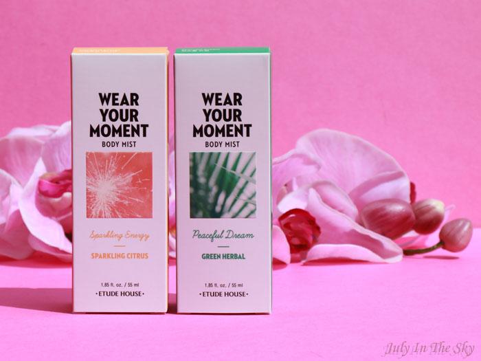 blog beauté kbeauty avis Etude House Wear Your Moment Body Mist
