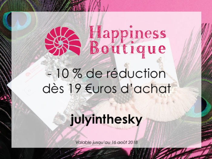 Code de réduction : Happiness Boutique