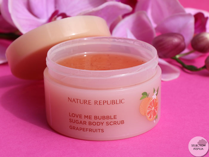 En amour pour le Love Me Bubble Sugar Body Scrub Nature Republic