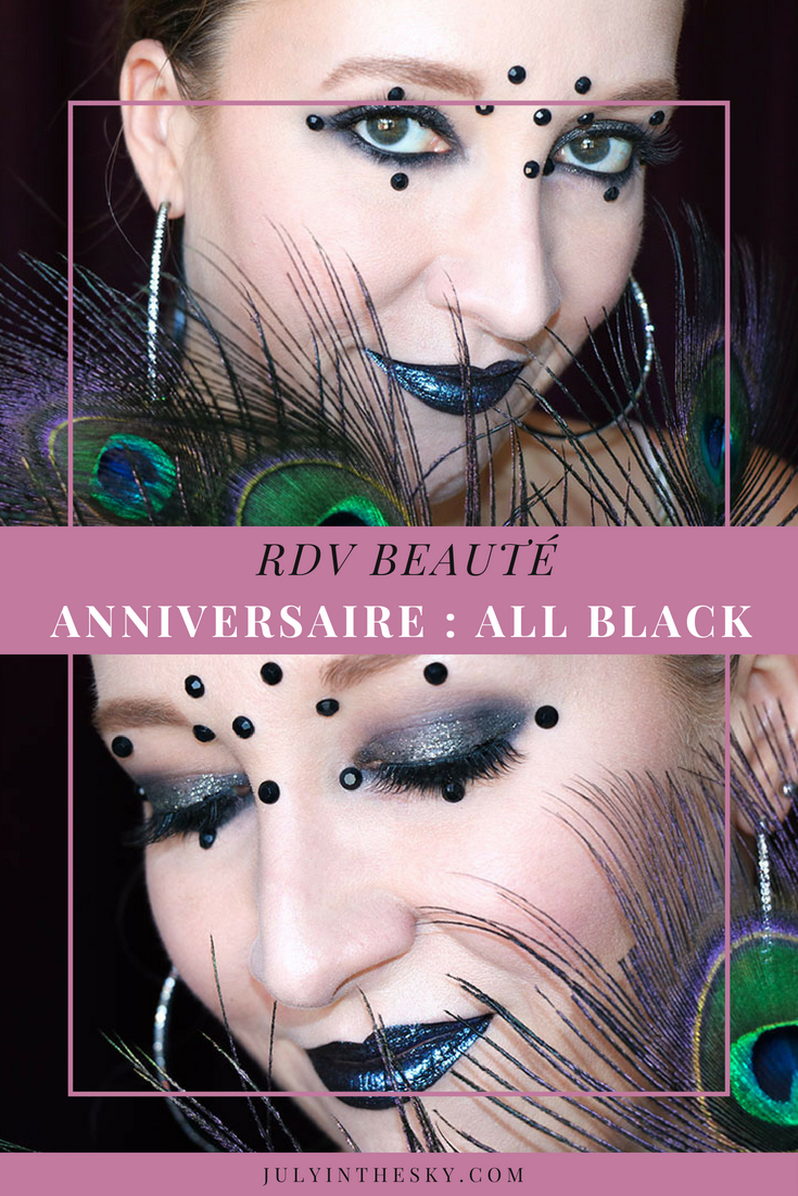 July In The Sky : blog beauté RDV Beauté anniversaire retrospective All Black tutoriel maquillage