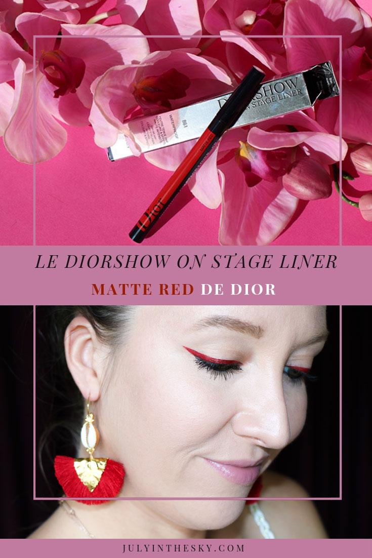 blog beauté Dior Dior Show On Stage Liner Matte Red avis