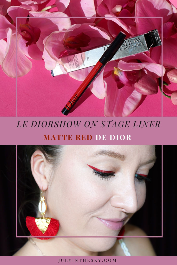 blog beauté Dior Dior Show On Stage Liner Matte Red avis